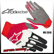 GUANTI CROSS ENDURO ALPINESTARS RACEFEND GLOVE 2018 BLACK RED WHITE TAGLIA M