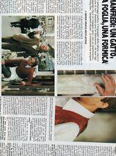 SP23 Clipping-Ritaglio 1982 Nino Manfredi Un gatto una foglia una formica