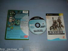 METAL GEAR SOLID 2 SUBSTANCE XBOX (complet - envoi suivi)