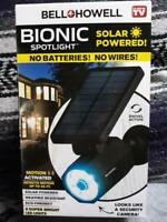 Bell + Howell Bionic Spotlight Solar Spot 25 Feet Motion Sensor As Seen On TV