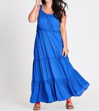 Plus Size Autograph Blue Cheesecloth Viscose Dress Size 16 Free Post