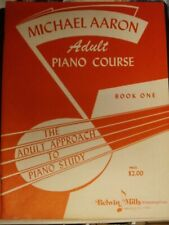 Vintage Adult Piano Course Book 1 (Michael Aaron) 64 Pages, 1947, Paperback