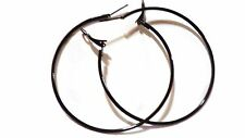 MEDIUM HOOP EARRINGS 2 INCH HOOP SIMPLE THIN HOOP EARRINGS ASSORTED COLORS