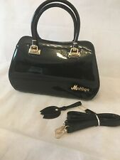 Nicole&Doris New Top-Handle Handbag Crossbody Shoulder Bag Pu Shinny Black