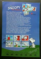 Portugal Snoopy 2000 Cartoon Animation (stamp on info sheet) *rare *see scan