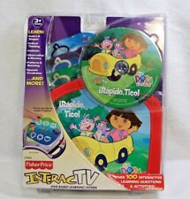 Fisher Price Interac TV Rapido Tico Go! Dora Explorer SPANISH C3954 DVD SEALED