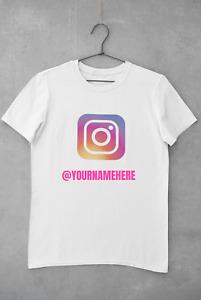 Personalised Custom Instagram T Shirt Business Name Logo Woman Printed Tee Top