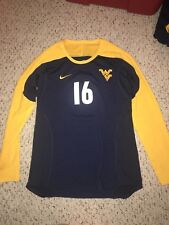 Nike West Virginia Mountaineers #16 Womens Volleyball L/S Navy Game Jersey *L*
