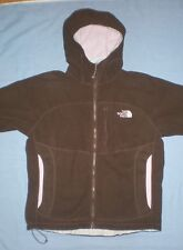 WOMENS THE NORTH FACE BROWN WINDWALL HOODED JACKET HOODIE FULL ZIP MEDIUM M