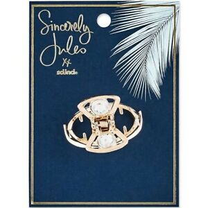Sincerely Jules by Scünci Rhinestone Metal Jaw Clip