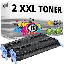 2x tóner para HP Color LaserJet 1600 2600n 2605 DN 2605 dtn cm 1015 MFP 1017 124a