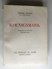 KOENIGSMARK 1946 PIERRE BENOIT TOUCHAGUES EO