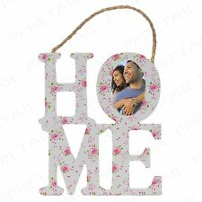 WOODEN HOME PHOTO FRAME House Warming Family Gift Picture Wall Door Hanging