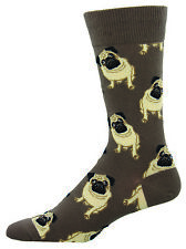 Socksmith Mens Boys Fawn Pug Dogs Pugs Brown Dog Novelty Fun Socks Gift Present