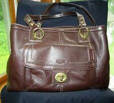 #BEAUTIFULCOACH Mahogany Brown PENELOPE HOBO f19044 LKNU tote purse handbag case