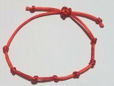 Bracciale rosso 7 nodi, fatto a mano, portafortuna, amore, protezione.