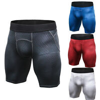 Mens Workout Compression Shorts Moisture Wicking Gym Underwear Sport Breathable