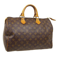 LOUIS VUITTON SPEEDY 35 HAND BAG SP0924 PURSE MONOGRAM VINTAGE M41524 AUTH 31815