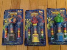 MARVEL SUPER HEROES FLIX COLLECTIBLE GUMBALL MACHINE NOC - THREE (3) IN LOT