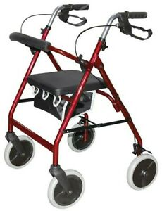 Days 4 Wheel Rollator with Aluminium Frame and Adjustable Height Handles