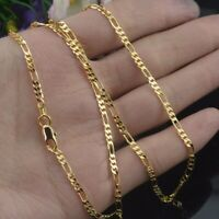 Fashion Jewelry 18K Yellow Gold Filled Chain Necklace Wedding Jewerly 16-30""
