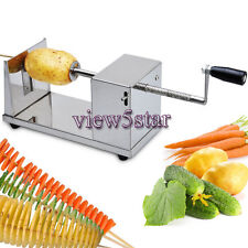 Manual Potato Chips Slicer Spiral Twister Cutter French Stainless Steel Twisted