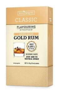 Still Spirits Classic AUSTRALIAN GOLD RUM Flavouring 2 x 15g sachets