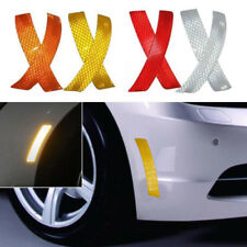 2Pcs Car SUV Bumper Reflective Warning Strip Decal Stickers Decor Auto Accessory