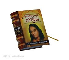 new hardcover Miniature Book Autobiografia de un Yogui Yogananda easy read 330pg