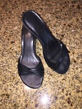 Aldo Black Slip On Stiletto Sandal Dress Casual Shoes Women's Size US 5 Eur 36