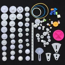 85 tlg Zahnrad Set Modellbau RC Roboter Zahnräder Satz Welle Antrieb Zahnriemen