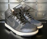"Nike Dunk CMFT ""Croc"" 705433 001 Used Men's Size 10.5 Black Suede Faux Croc Skin"