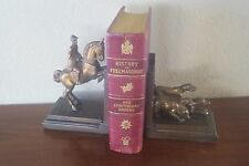 "Bookends D Martini Fox Hunt 1937 Bronze Clad Armor Bronze  8.25"" RARE"
