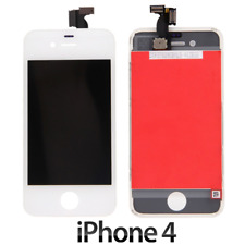 TOUCH SCREEN LCD DISPLAY PER APPLE IPHONE 4 VETRO SCHERMO BIANCO + FRAME