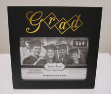 Black and Gold Graduation Photo Frames, 6 x 4 in.Tabletop Or Wall Hanging