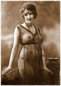 Vintage 68 1920's Erotic Female Nude Sepia Retro Art PHOTO REPRINT A4 A3 A2 size