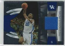 Jodie Meeks Uk Kentucky Wildcats Basketball 2009 Panini Prestigious Jersey Card