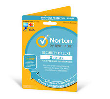 Norton Security Deluxe 2021 (3 Devices/1 Year) Internet Antivirus PC/Mac Licence