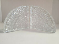 Set of Waterford Crystal Quadrant Bookends, 5.25″ x 5.25″, PA5414
