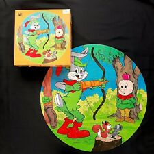 Vintage Bugs Bunny Round Whitman Puzzle 125 Pieces 1982 COMPLETE