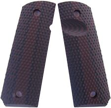 """1911 Grips Full Size G10 Colt Springfield Kimber """"Roughneck""""  - Red-Black"""