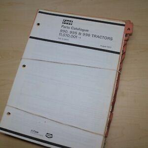 CASE DAVID BROWN 990 990Q 990SK 990G 995 996 996Q 996G Tractor Parts Manual Book