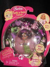 "2008 Barbie Peek-A-Boo Petites 2.5"" Doll Raspberry Tea Renee #7 Fun Accessories"