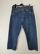 Lacoste Denim Jeans Size W 34 L 28 Men  Regular Fit Blue Buttons Closure