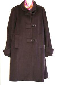CINZIA ROCCA Brown Angora Wool Blend Trench Women's Coat Size:10