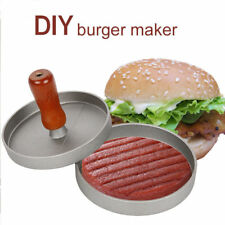 Aluminum Alloy Burger Press Hamburger Press Meat Patty Mold Maker 12cm Diameter