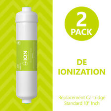 Deionization Water Filter Replacement – RO DI Mixed Bed Purifier – Inline 2 Pack