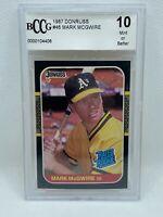 1987 Donruss #46 MARK McGWIRE RC Rookie Card BGS 10 GEM MINT! HOT CARD! MUST SEE