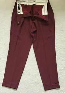 Paul Smith Ladies Damson turnup Trousers  Size 42