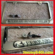 Genuine New FERRARI BEVERLY HILLS License Plate Frame FF,F12,328,575, California